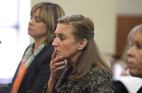 University of Texas Regent Brenda Pejovich ponders a question at the Select Committee on Transparency in State Operations on May 14, 2013.