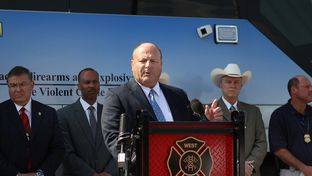 State Fire Marshal Chris Connealy spoke during the West press conference at West High School and announced that the cause of the explosion is still undetermined.