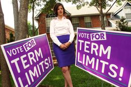 Kathleen Thompson led an unsuccessful fight for term limits in Grapevine TX.