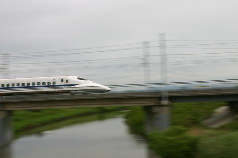 The JR Central N700 Series, a Japanese Shinkansen bullet train.