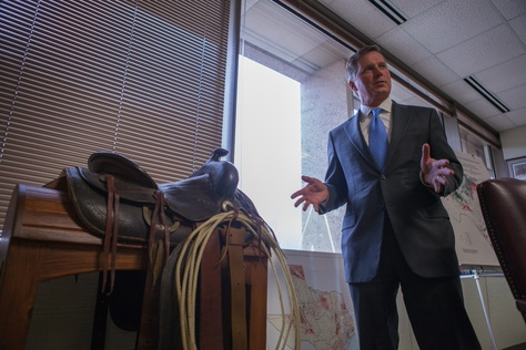 Chairman Barry Smitherman of the Railroad Commission of Texas in his office, May 31, 2013.