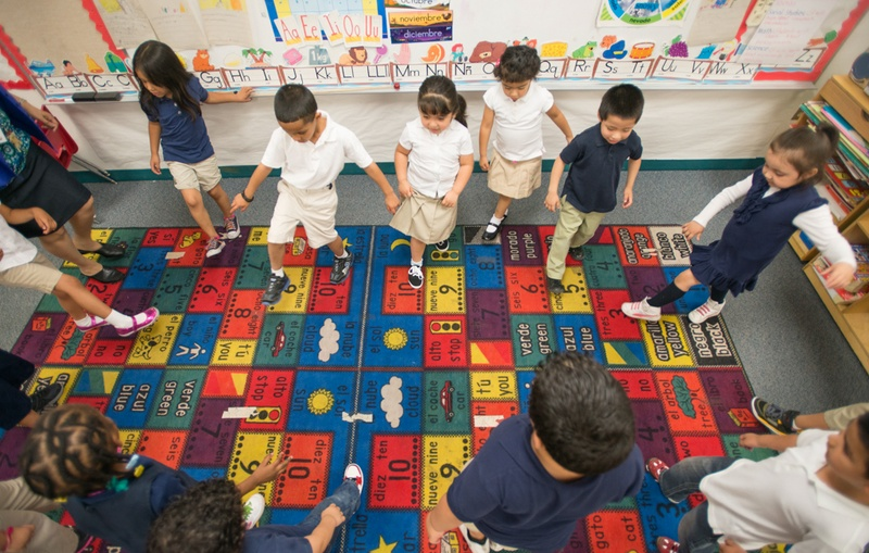 Pre-kindergarten students at the Dallas Independent School District's Cesar Chavez Learning Center.