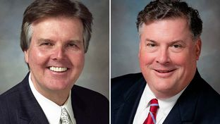 State Senators Dan Patrick, R-Houston, and Tommy Williams, R-The Woodlands.