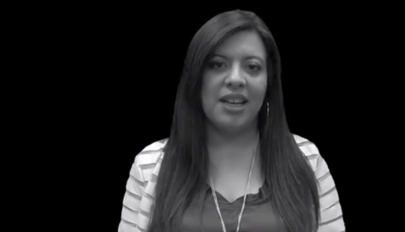 "Screenshot of State Rep. Mary Gonzalez in an ""It Gets Better"" video featuring Texas Democratic legislators"