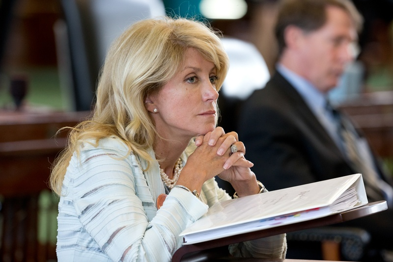 State Sen. Wendy Davis, D-Fort Worth, preparing to filibuster Senate Bill 5, which would tighten regulations on abortion providers in Texas, on the last day of the special session.