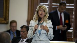 State Sen. Wendy Davis, D-Ft. Worth, begins a filibuster of SB 5 the abortion regulation bill on June 25, 2013.