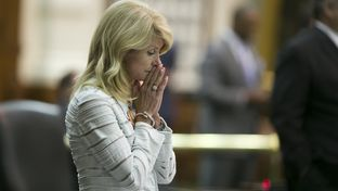 Sen. Wendy Davis, D-Fort Worth, during her filibuster of an abortion bill on June 25, 2013.