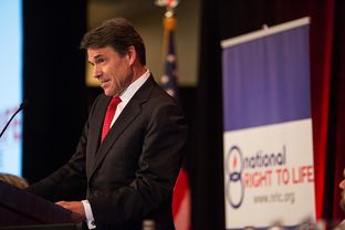 Gov. Rick Perry addresses the National Right to Life convention on June 27, 2013.