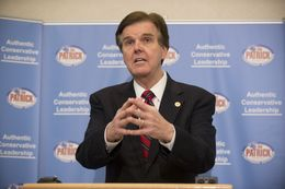 Citing a lack of good state leadership, State Sen. Dan Patrick, R-Houston, formally announces his bid for Lt. Governor on June 27, 2013