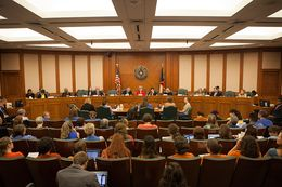 A hearing on Senate Bill 1 is shown on July 8, 2013.