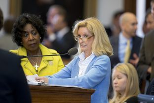 State Rep. Jodie Laubenberg, R-Parker,  leads debate on HB 2 regarding abortion restrictions in the House on July 9, 2013.