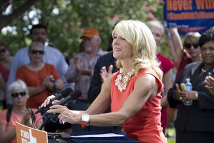 State Sen. Wendy Davis, D-Fort Worth, at an abortion rights rally on July 9, 2013.