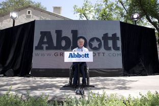 Greg Abbott on July 14, 2013, in San Antonio announcing his run for governor.