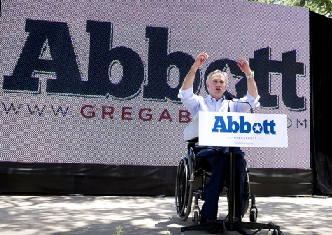 Attorney General Greg Abbott announces at LaVllita in San Antonio that he's running for Texas governor on July 14, 2013.