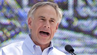 Greg Abbott announces his candidacy for governor at La Villita in San Antonio on July 14, 2013.