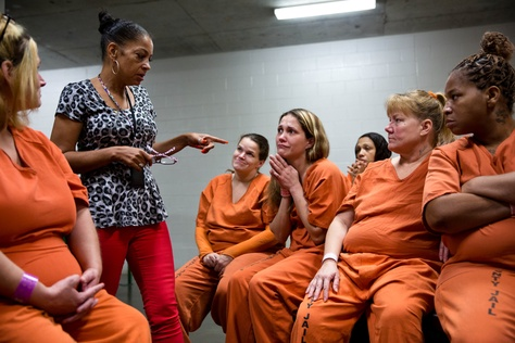 "Kathryn Griffin leads the ""We've Been There Done That"" prostitute rehabilitation program for selected inmates at Harris County Jail."