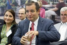 U.S. Sen. Ted Cruz is introduced to high tech executives at National Instruments in Austin on August 22, 2013.