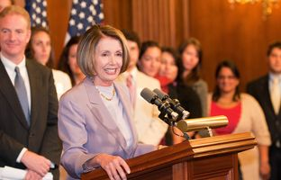 House Minority Leader Nancy Pelosi on Monday marked the 93rd anniversary of the 19th Amendment with a trip to Austin to promote economic reform aimed at helping women.