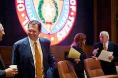 Regent Paul Foster at the University of Texas System Board of Regents meeting Aug. 22, 2013.