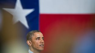 President Barack Obama speaking in Austin on Thursday, May 9, 2013.