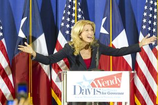 State Sen. Wendy Davis announces her candidacy for governor in Haltom City on Oct. 3, 2013.