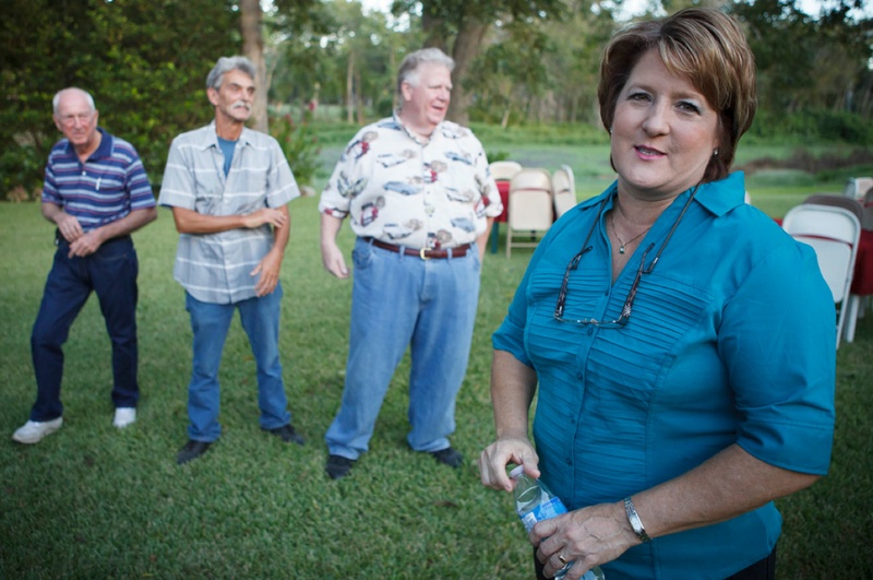 Debra Medina hosts a monthly potluck with Tea Party activists at her home in Wharton on Sept. 6, 2013.