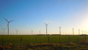 A wind farm near Abeline, TX, April 5, 2011