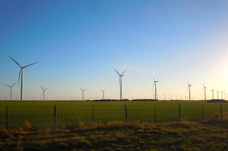A wind farm near Abeline, TX, April 5, 2011