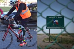 """Carlos Gutierrez, who lives in exile in Texas, embarks on the first segment of his """"Pedaling for Justice"""" bike trek that ends in Austin next month."""