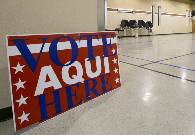 Voting precinct at the Parker Lane United Methodist Church in Austin, Texas