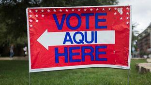 Austin City Hall on election day - Nov. 5, 2013