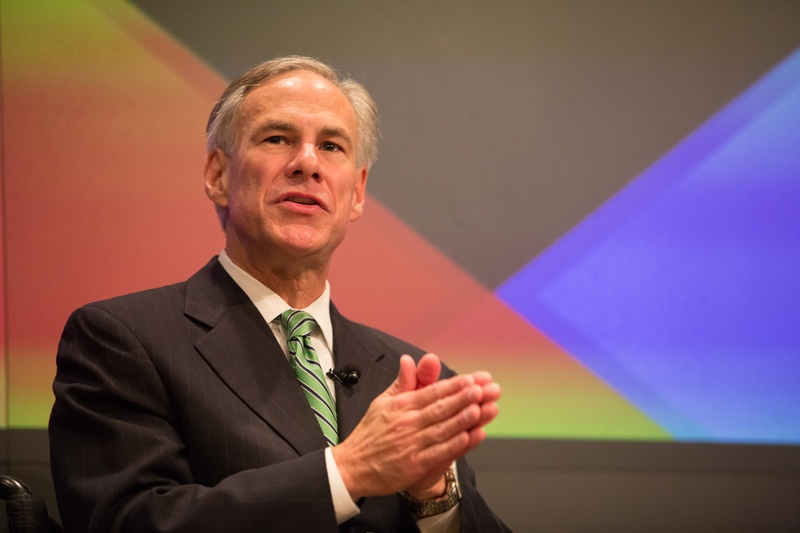 Ross Ramsey, Executive Editor of The Texas Tribune, speaks with Texas Attorney General Greg Abbott during a one-on-one session of The Texas Tribune Festival on Sep. 28, 2013.