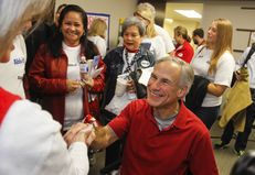 Attorney General Greg Abbott spoke to supporters in Austin on Nov. 9, 2013, after officially filing for the 2014 gubernatorial campaign.