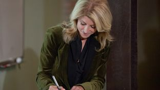 State Sen. Wendy Davis, D-Fort Worth, officially files her candidacy for governor in front of a crowd of supporters at uShip's headquarters in Austin on Nov. 9, 2013.