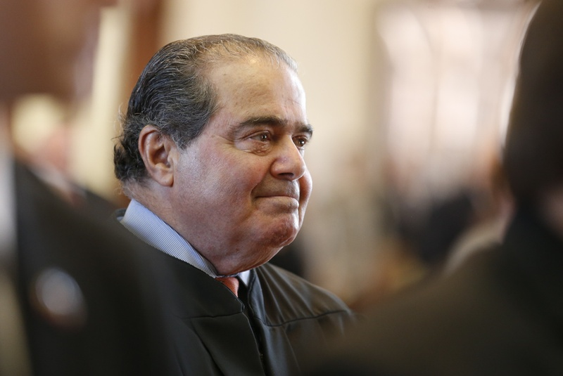 U.S. Supreme Court Justice Antonin Scalia at the investiture ceremony at the Texas House on November 11, 2013.