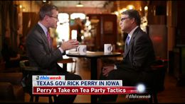 Gov. Rick Perry interview by Jeff Zeleny on ABC's 'This Week'.