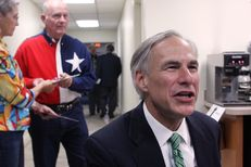 Texas Attorney General Greg Abbott speaking before a NE Tarrant Tea Party meeting at the Concordia Lutheran Church in Bedford TX. Abbott is seeking to become the next governor of Texas.
