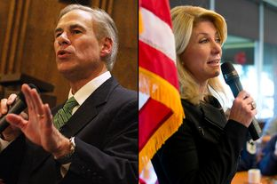 Greg Abbott, then a candidate for governor and now the governor-elect, spoke at a NE Tarrant Tea Party meeting at Concordia Lutheran Church in Bedford on Nov. 12, 2013. State Sen. Wendy Davis, who was also running for governor, spoke to veterans at Luby's in Forest Hill the day before.