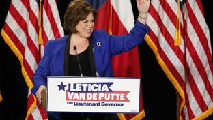 Sen. Leticia van de Putte, D-San Antonio announces her candidacy for Lt. Governor at San Antonio College on November 23, 2013.