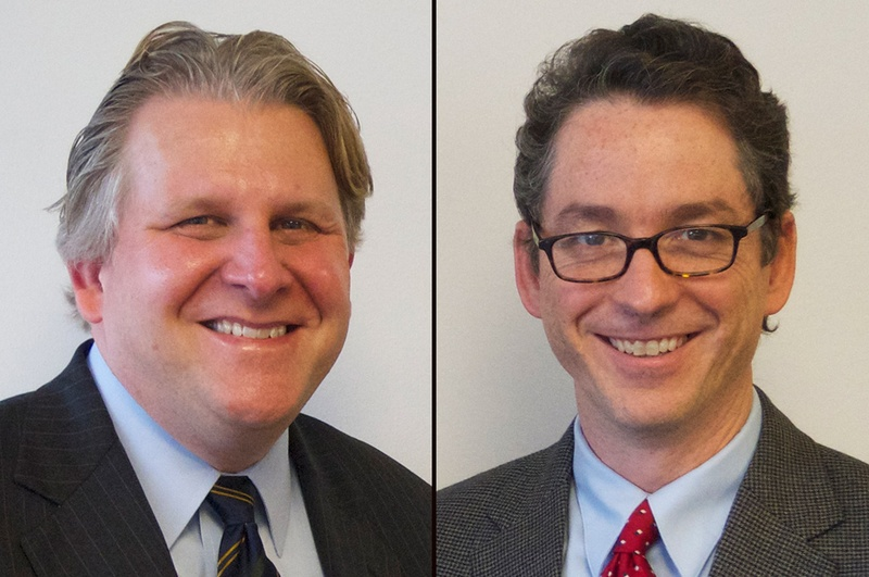 From left to right: David Lyle, senior counsel for state advancement, American Constitution Society, and Bert Brandenburg, executive director, Justice at Stake.