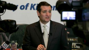 Senator Ted Cruz R-Texas speaks to press during a visit to Killeen Texas on December 3rd, 2013.