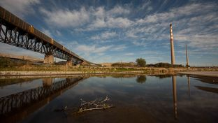 The Rio Grande at the New Mexico-Texas border on Monday, December 9, 2013 in El Paso.