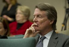 UT-Austin President Bill Powers is shown at a hearing of the House Select Committee on Transparency in State Agency Operations on Dec. 18, 2013.