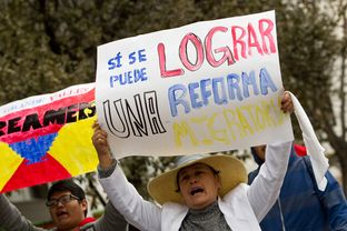 Participants in a rally for immigration reform marched toward the Texas Capitol on Feb. 22, 2013.