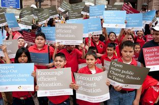 Texas charter school children and supporters rallied at the Texas Capitol to lobby the Legislature for more funding on May 8, 2013.