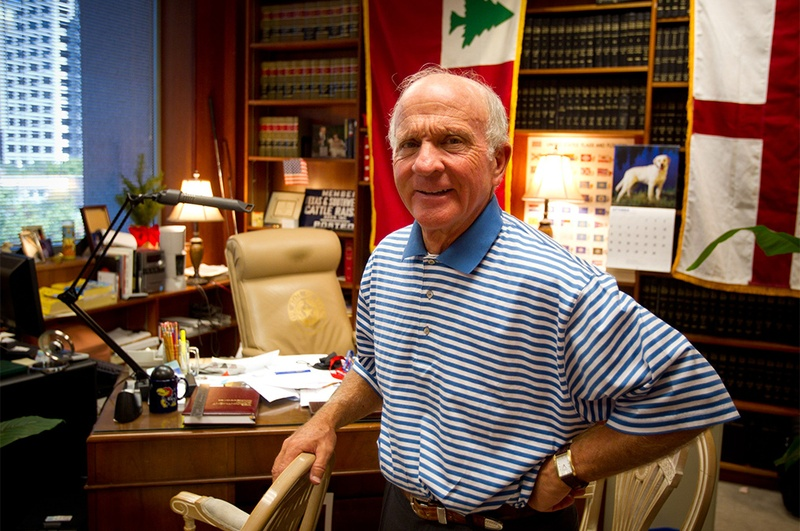 Court of Criminal Appeals Judge Larry Meyers is shown in his office in 2013.