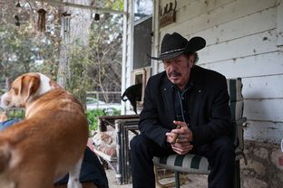 Kinky Friedman is shown at his Medina, Texas, ranch.