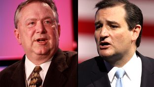 U.S. Rep. Steve Stockman, left, is framing his Senate campaign around how he can help U.S. Sen. Ted Cruz, right better than current incumbent John Cornyn.