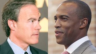 House Speaker Joe Straus (l) faces a challenge from Frisco state Rep. Scott Turner