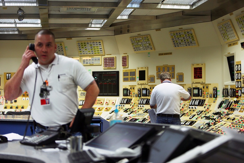 Radio Action Command Center at STP Nuclear Operating Company which provides power to CPS San Antonio, Austin Energy, and NRG, in Palacios, Texas, December 6, 2013.